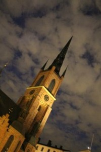 Riddarholmen at night