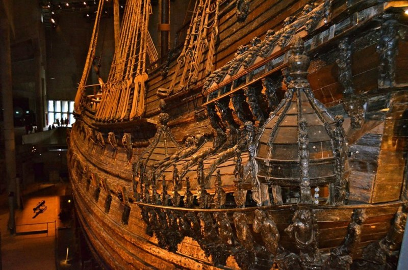 Decoration left side of the Vasa