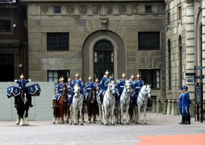 Royal changing of the guard Stockholm