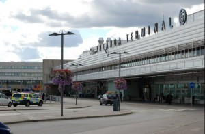 The Stockholm airport