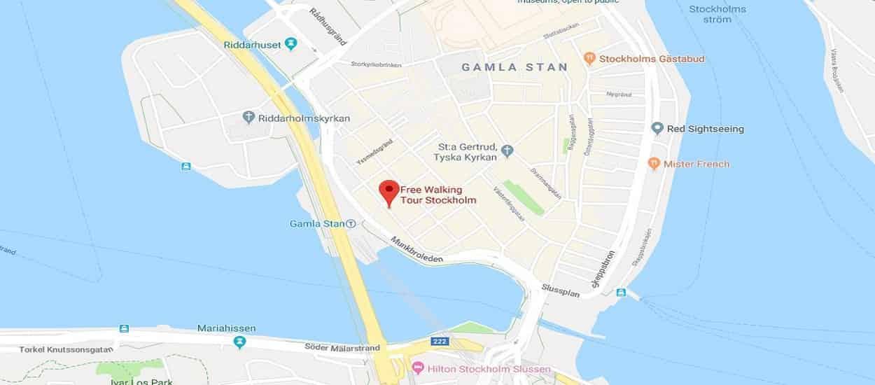 free tour stockholm map